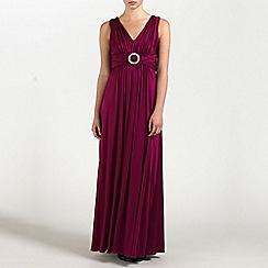 Ariella London - Wine Caroline Jersey Long Dress