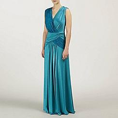 Ariella London - Teal Miranda Jersey and Lace Dress