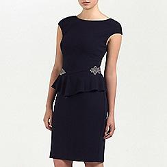 Ariella London - Navy Madison Crepe Peplum Short Dress