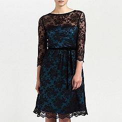 Ariella London - Black/Teal Millie Lace short dress