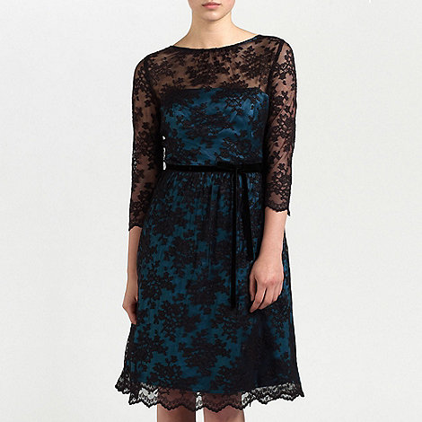 Ariella London - Black/Teal Millie Lace short dress