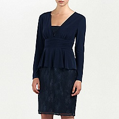 Ariella London - Navy Paten Jersey/Lace short dress