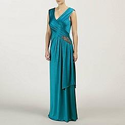 Ariella London - Teal Natalia Jersey Long Dress