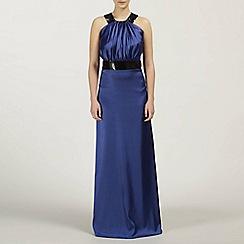 Ariella London - Royal Blue Zela Satin and Sequin Lond Dress