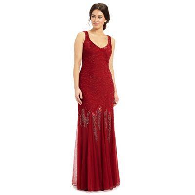Ariella London Red serafina sequin dress - . -