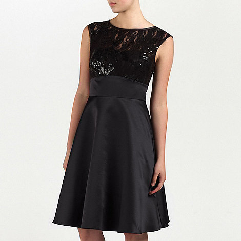 Ariella London - Black Zoe Embellished Satin short dress