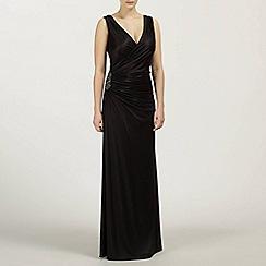 Ariella London - Black Monica Long Wrap Dress