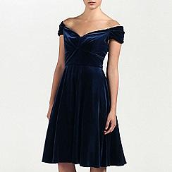 Ariella London - Navy Amelie Velvet Short Prom Dress