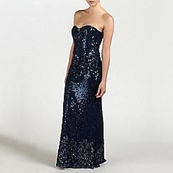 Ariella London - Navy Leah Strapless Sequin Long Dress
