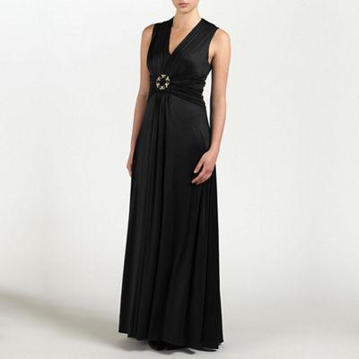Ariella London Black Emma Jersey Long Dress - . -