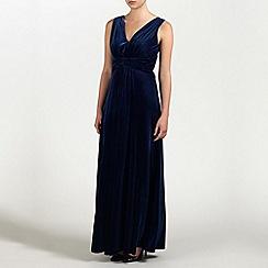 Ariella London - Navy Mila Velvet Long Dress