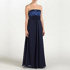Ariella London - Navy Faith Chiffon/Taffeta long dress