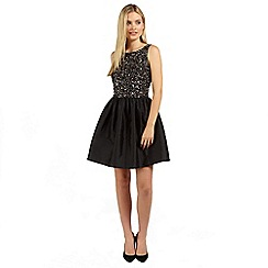 Ariella London - Black freya beaded prom short dress