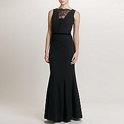 Ariella London - Black Simona Crepe/Lace Long Dress