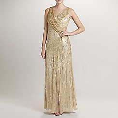 Ariella London - Gold Juliet Sequin Long Dress