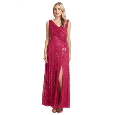 Ariella London Rasberry juliet sequin long dress - . -