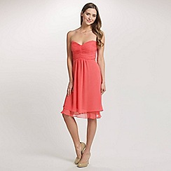 Ariella London - Coral Raina Chiffon Short Dress