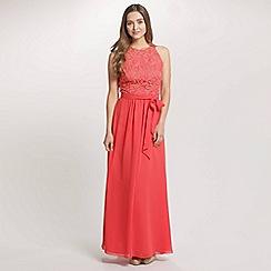 Ariella London - Coral Rachel Lace Bust and Chiffon Skirt Long Dress