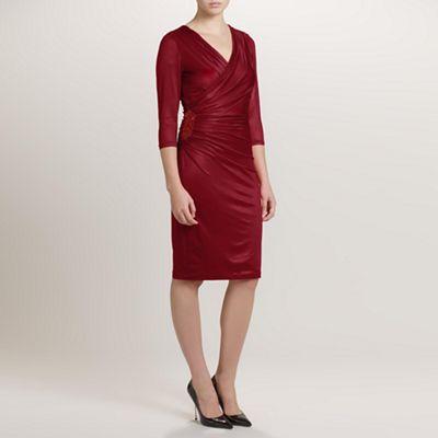 Ariella London Red Baylee Jersey Short Dress - . -