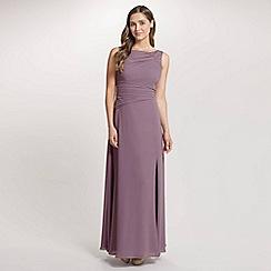 Ariella London - Lavender Danielle Chiffon Lace Long Dress