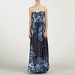 Ariella London - Blue Bryni Satin Maxi Dress