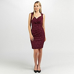 Ariella London - Wine evie lace shift short dress