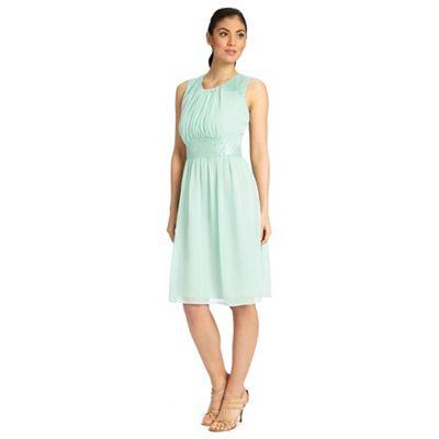 Ariella London Mint alia chiffon short dress - . -