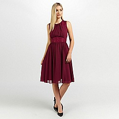 Ariella London - Wine alia chiffon short dress