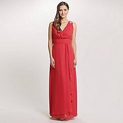 Ariella London - Coral Felicity Chiffon Long Dress