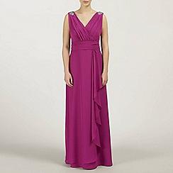 Ariella London - Magenta Felicity Chiffon Long Dress