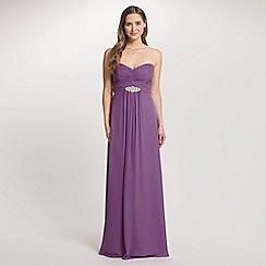 Ariella London - Lavender Jaida Strapless Chiffon Long Dress