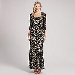 Ariella London - Black natasha lace long sleeve long dress