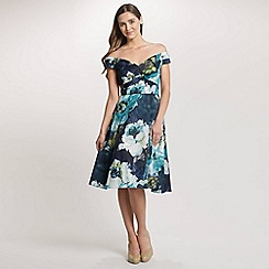 Ariella London - Multi Molly Off the Shoulder Printed Prom Dress