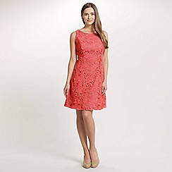 Ariella London - Coral Tilly Lace Short Dress With Contrast Border