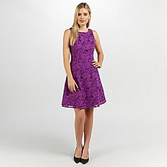 Ariella London - Purple tilly lace short dress