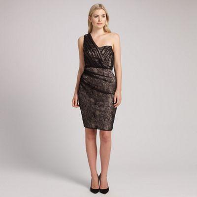 Ariella London Black champange courtney one shoulder short dress - . -