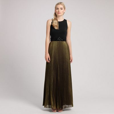 Ariella London Black gold carrie long dress - . -