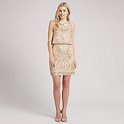 Ariella London - Beige tara sequin short dress