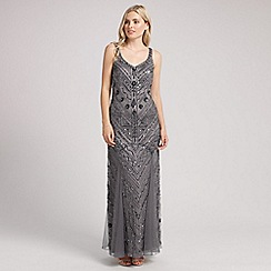 Ariella London - Silver silvia sequin long dress