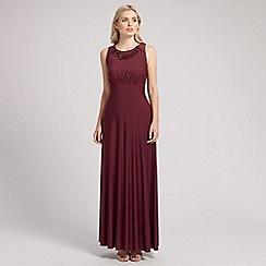Ariella London - Burgundy lizzy long maxi dress