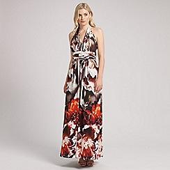 Ariella London - Multi fiona halterneck maxi dress