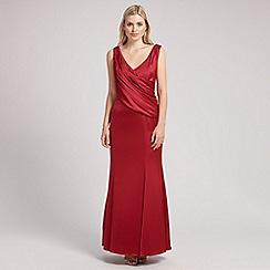 Ariella London - Red rose satin long dress
