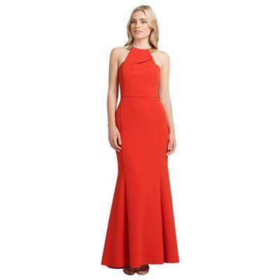 Ariella London Red bianca maxi long dress - . -