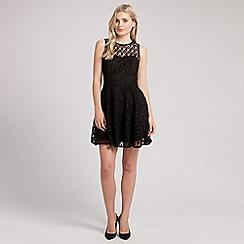 Ariella London - Black libby crochet lace short dress