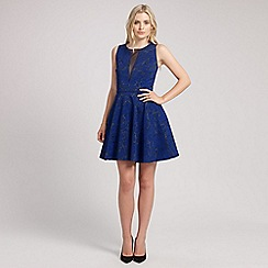 Ariella London - Blue lola jacquard short dress