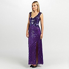 Ariella London - Purple samantha sequin long dress