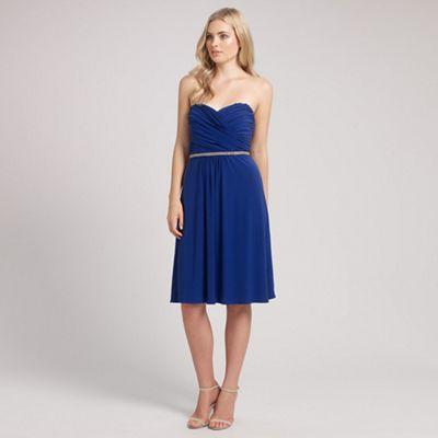 Ariella London Blue mazie jersey short dress - . -