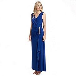 Ariella London - Blue celina wrap long dress