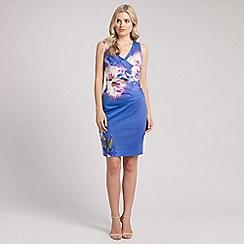 Ariella London - Blue sally printed pencil dress