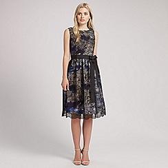 Ariella London - Blue Jenny Print Lace Over Short Dress